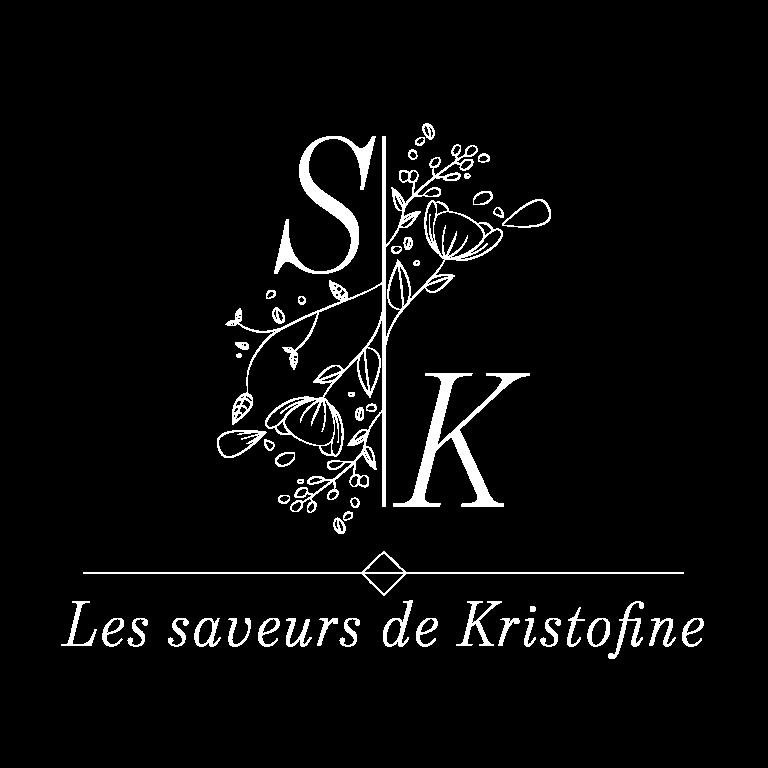 Logotype - Blanc - Transparent - Les Saveurs de Kritofine